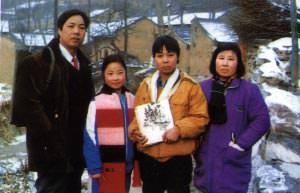 Famous Asian folk art creator, Cao Quan-Tang and his family