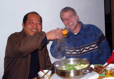 Chinese Artist Mr. Ou-Yang and I drink a lot together