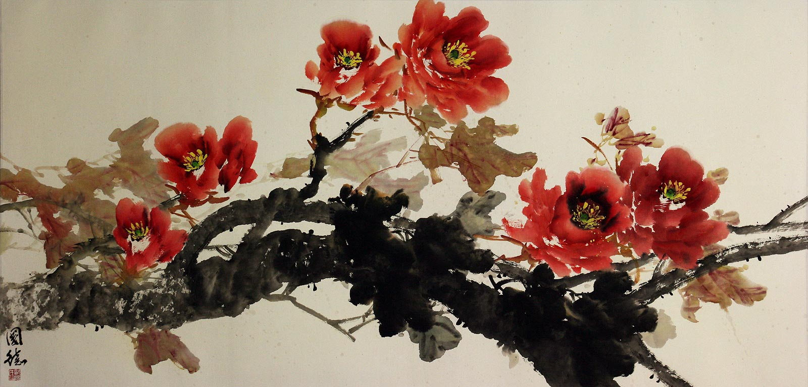 Japanese Flower paintings