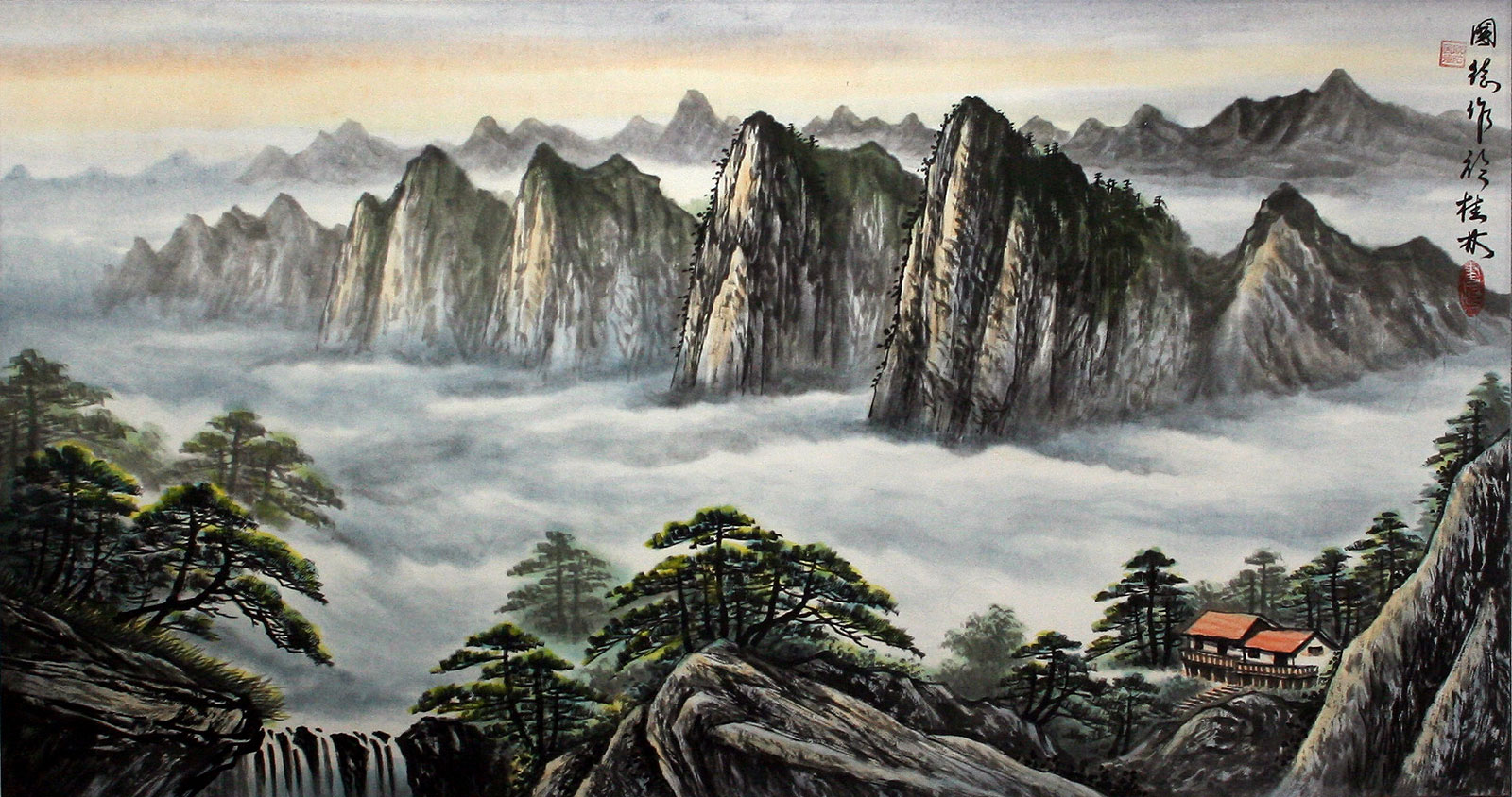 Chinese Japanese Landscape Paintings - Hot Girls Wallpaper