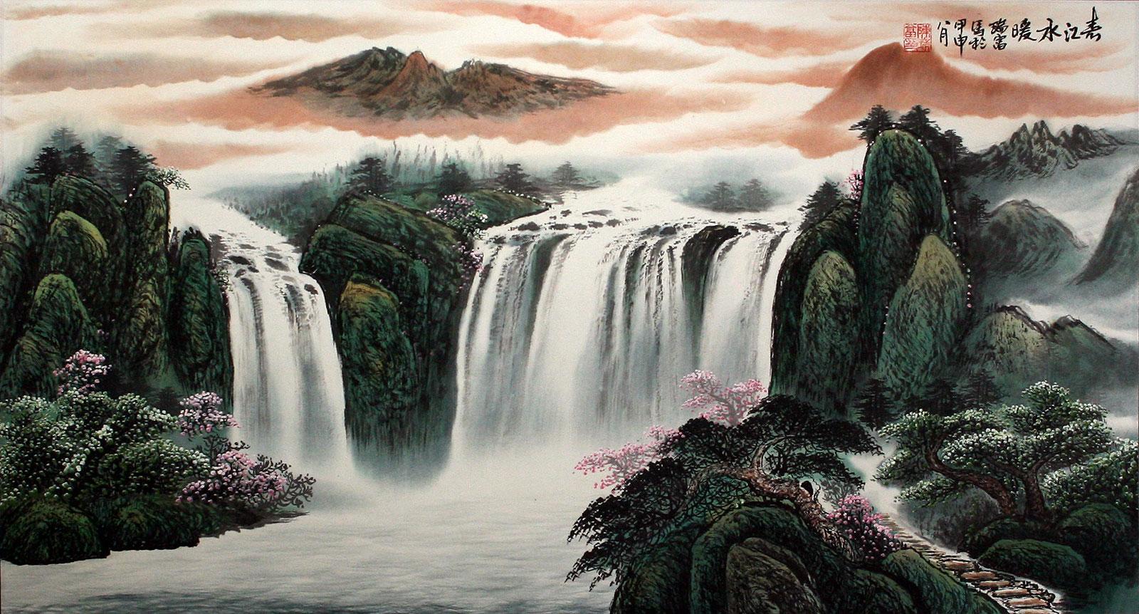 Asian Landscape Oil Painting