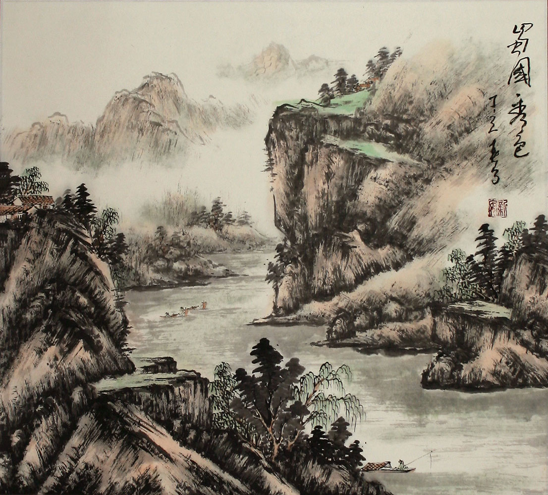 beauty of sichuan landscape painting landscapes of