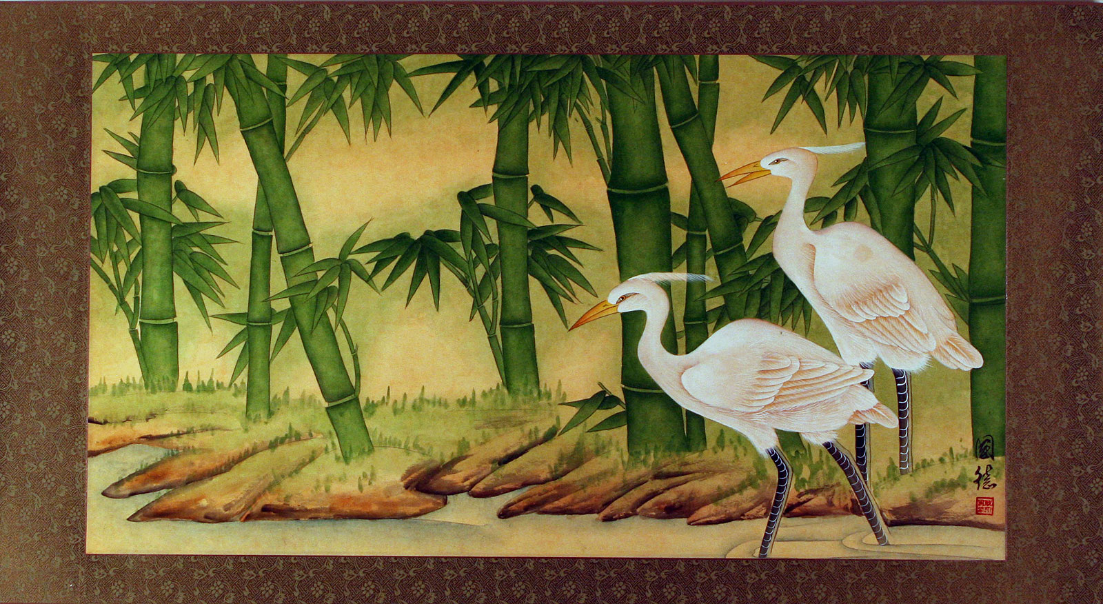 Egrets And Bamboo Painting Birds Amp Flowers Wall Scrolls