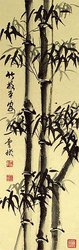 Safe and Sound Bamboo Wall Scroll close up view