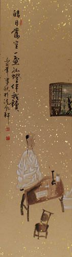 My Only Company: Moonlight - Wall Scroll close up view