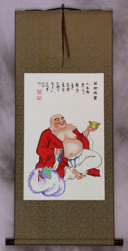 Happy Jolly Buddha Wall Scroll