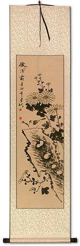 Frost - Chrysanthemum Wall Scroll