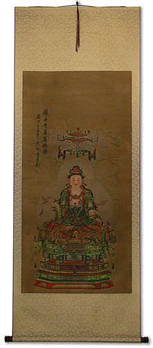 Guanyin / Kuan Yin / Kannon - Partial-Print Wall Scroll