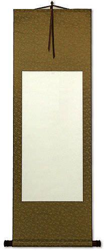 Blank White/Copper Asian Wall Scroll