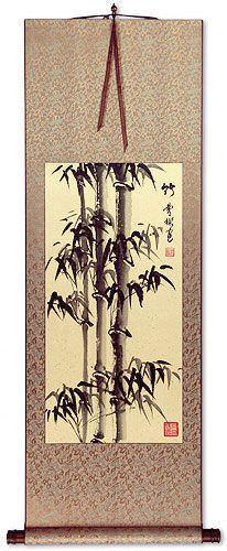 Chinese Freestyle Bamboo Wall Scroll