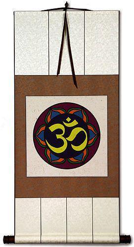 Om Symbol - Hindu / Buddhist Wall Scroll