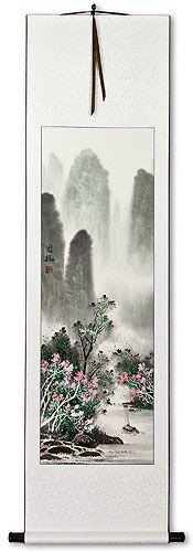 Chinese Landscape Wall Scroll