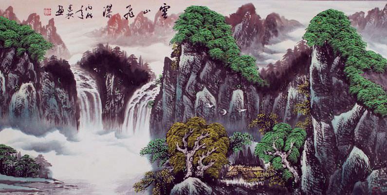 Japanese Landscape Illustration