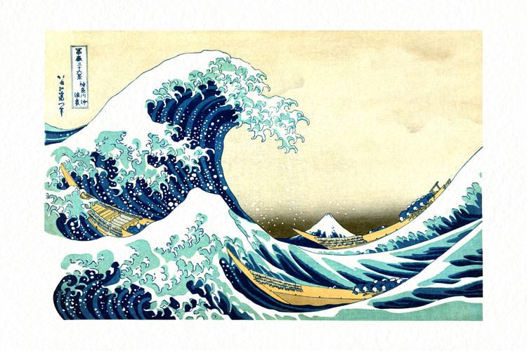 The Great Wave of Kanagawa - Japanese Woodblock Print Reproduction